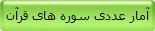 آمار عددی سوره های قرآن